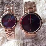 CK-03-8 人氣熱銷單品玫瑰金系列藍色情侶款進口石英腕錶