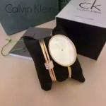 CK-07-9 歐美流行單品土豪金白底手鐲款進口石英腕錶