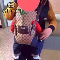 Gucci 28550 時尚新款咖啡色杏布經典款媽咪袋