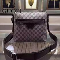 GUCCI 387514-3 歐美時尚精英男士咖啡色PVC小號單肩斜挎包
