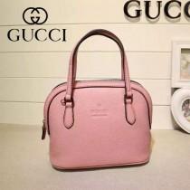 Gucci 341504 秋冬新款粉紅色全牛皮mini貝殼包