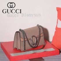 GUCCI 400249-2 歐美時尚新款女士灰色磨砂皮鏈條單肩晚宴包