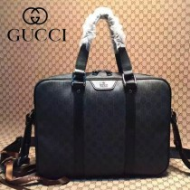 Gucci 368557-1 秋冬新款克色PVC男士手提斜背電腦包