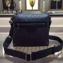 GUCCI 387514 歐美時尚精英男士黑色PVC小號單肩斜挎包