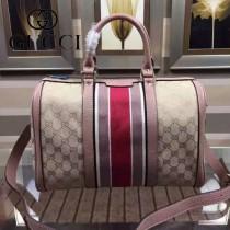 Gucci 247205-19 時尚新款裸粉色波士頓包
