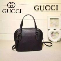 Gucci 341504-2 秋冬新款黑色全牛皮mini貝殼包