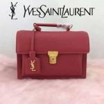 YSL 392264N-2 日系學院風甜美紅色牛皮手提單肩包