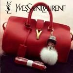 YSL 02-3 潮流經典款女士紅色牛皮手提單肩包通勤包