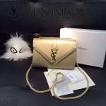 YSL 09-3 潮流熱銷迷你金色牛皮單肩斜挎包小包