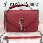 YSL 26604-3 潮流新款女士Monogramme bag紅色人字紋手提單肩包