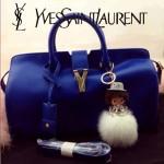 YSL 02 潮流經典款女士電光藍牛皮手提單肩包通勤包