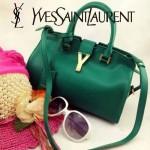 YSL 03-7 時尚白領經典款綠色牛皮小號手提單肩包