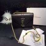 YSL 09-2 潮流熱銷迷你黑色牛皮單肩斜挎包小包