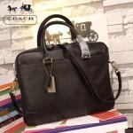 COACH 70901-2 新款商務男士BLEECKER系列黑色全皮手提單肩包公文包