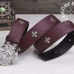 Chrome Hearts-053 克邏心原版皮皮帶新款腰帶