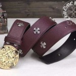 Chrome Hearts-054 克邏心原版皮皮帶新款腰帶