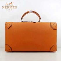 HERMES 8097-2 歐美時尚男女款馬克西系列橙色牛皮手提多功能旅行箱