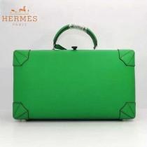 HERMES 8097-7 歐美時尚男女款馬克西系列綠色牛皮手提多功能旅行箱