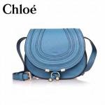 CHLOE 166324-2 超級巨星款秋冬季藍色全皮單肩斜挎包