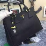 PRADA 2767-6 名媛必備單品黑色荔枝紋手提單肩包
