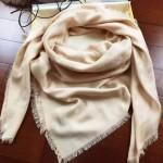 LV圍巾-3-3 時尚經典款蔡依林系列原單自然色羊絨真絲圍巾披肩