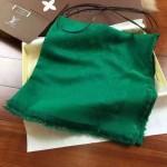 LV圍巾-3 時尚經典款蔡依林系列原單綠色羊絨真絲圍巾披肩