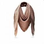 LV圍巾-7-3 熱銷明星高圓圓同款漸變色系列原單羊絨真絲披肩圍巾