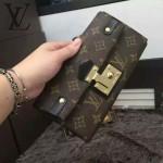 LV N63171-2 人氣熱銷單品女士Ascot系列經典老花鎖扣手拿晚宴包錢包