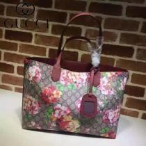 GUCCI 368568-6 春夏撞色新款花色系列雙面用單肩包購物袋