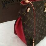 LV M41620 專櫃最新款女士GAIA經典老花配紅色內裡手提單肩包購物袋
