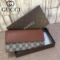 GUCCI 410100-2 潮流時尚新款咖啡色PVC配棕色皮新款錢夾