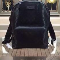 GUCCI 406370 秋冬時尚新款PVC配牛皮背包雙肩包