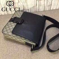 GUCCI 406368 秋冬時尚新款咖啡色PVC克皮男士斜背包