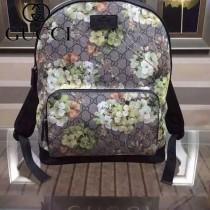 GUCCI 406370-1 秋冬時尚新款PVC配牛皮背包雙肩包
