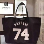 GIVENCHY-0011-5 專櫃官方版經典款74數字圖案十字紋大容量購物袋