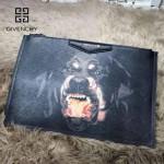 GIVENCHY-008-7 歐美百搭元素惡犬圖案十字紋男女款手拿包