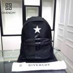 GIVENCHY-004-4 原單五角星圖案降落傘面料配牛皮雙肩包休閒背包
