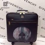 GIVENCHY-001-5 歐美朋克風新款頭像圖案十字紋16寸標準登機箱拉桿箱