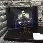 GIVENCHY-008-16 歐美百搭元素聖母圖案十字紋男女款手拿包