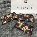 GIVENCHY-005-2 人氣熱銷新款蝴蝶圖案十字紋拉鏈長款錢包