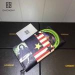 GIVENCHY-005 人氣熱銷新款美國國旗圖案十字紋拉鏈長款錢包