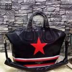 GIVENCHY-003 時尚潮流中性款紅色星星圖案手提斜挎包