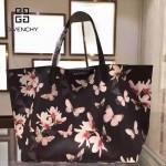 GIVENCHY-0011-3 專櫃官方版經典款蝴蝶圖案十字紋大容量購物袋