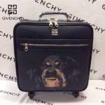 GIVENCHY-001-4 歐美朋克風新款惡犬圖案十字紋16寸標準登機箱拉桿箱