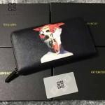 GIVENCHY-006-5 時尚商務新款人像圖案十字紋大容量手拿包錢包