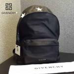 GIVENCHY-004-5 原單五角星圖案降落傘面料配牛皮雙肩包休閒背包