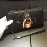 GIVENCHY-006 時尚商務新款惡犬圖案十字紋大容量手拿包錢包