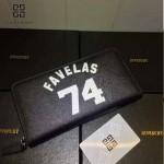 GIVENCHY-006-3 時尚商務新款74數字圖案十字紋大容量手拿包錢包