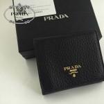 PRADA 1M0176-8 人氣熱銷經典新款黑色原版皮三折錢夾