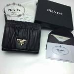 PRADA 1M0176-9 人氣熱銷經典新款黑色原版皮三折錢夾